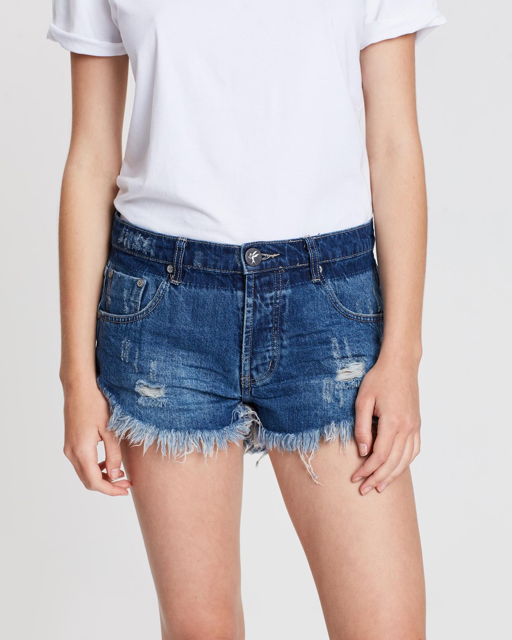 20e1d9eaff Brandos Relaxed Fit Denim Shorts by ONETEASPOON Online | THE ICONIC |  Australia