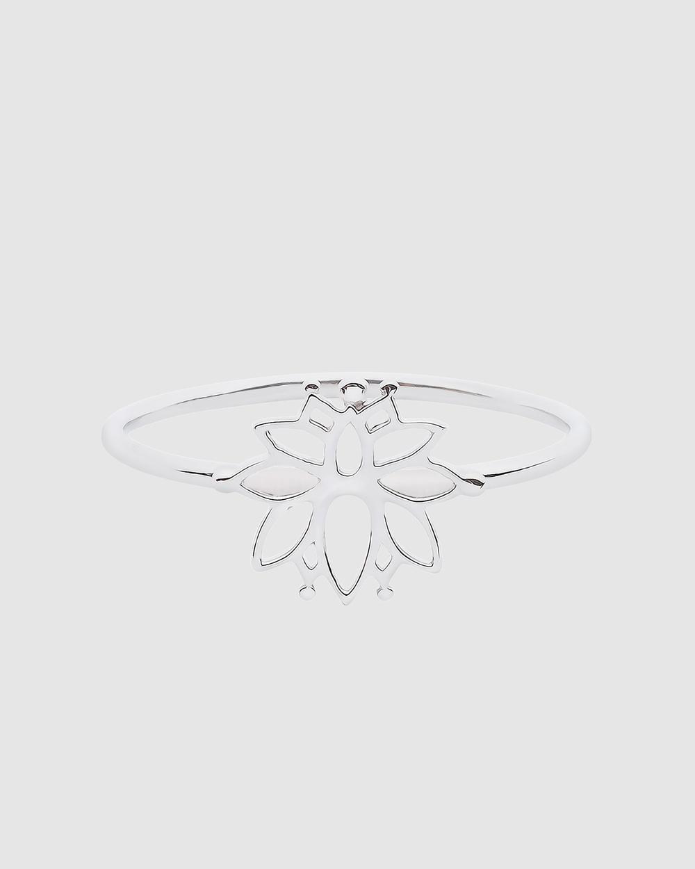 Pastiche Magnolia Ring Jewellery Silver