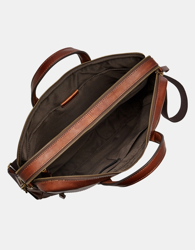 Fossil - Haskell Cognac Briefcase