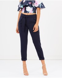 Dorothy Perkins - Tie Tapered Trousers