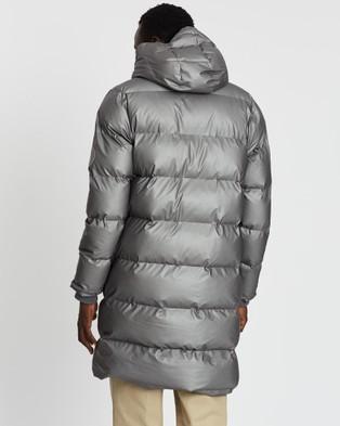 RAINS Long Puffer Jacket - Coats & Jackets (Metallic Charcoal)