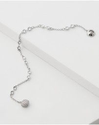 Swarovski - White Gold Remix Collection Charm Bracelet