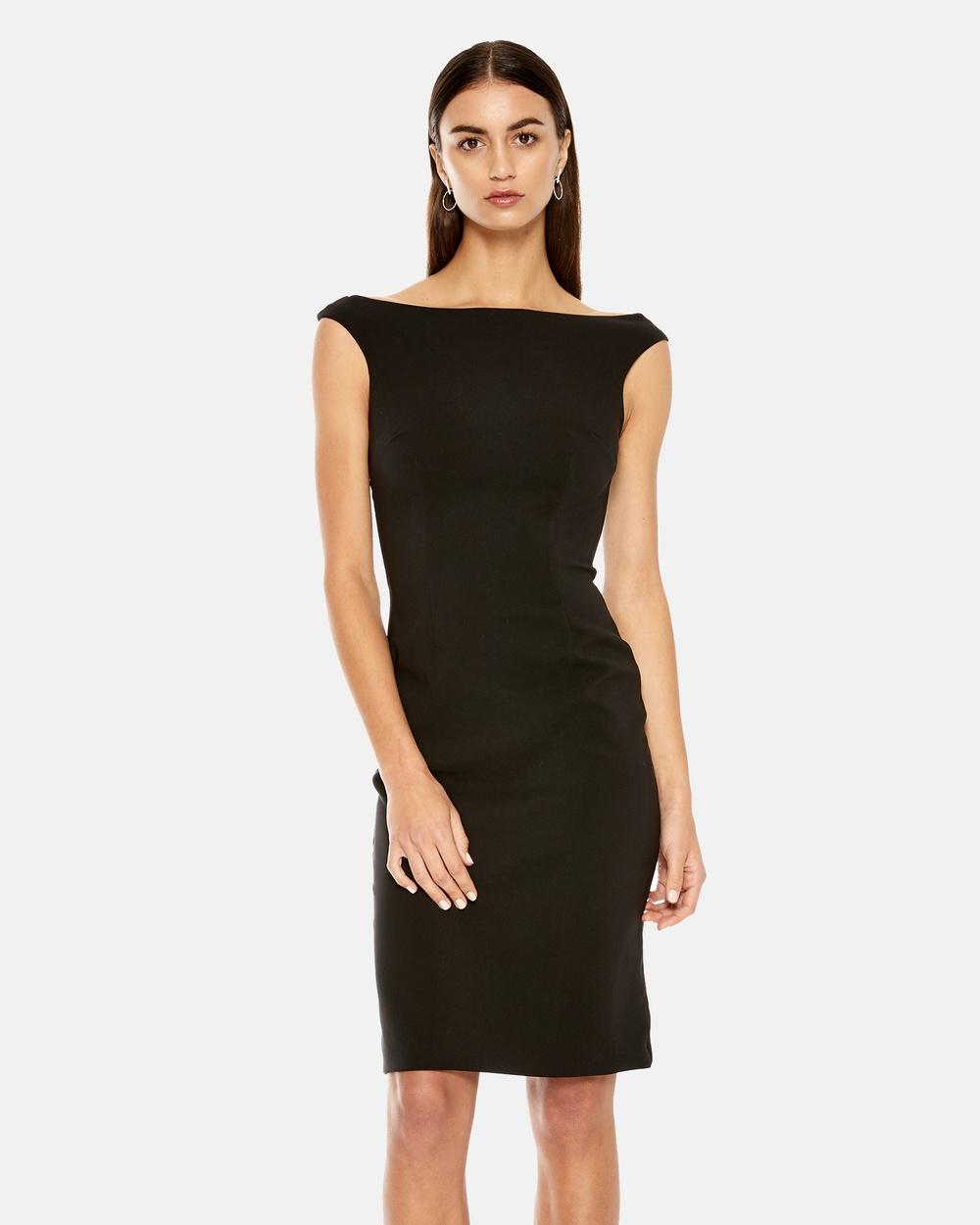Maniera Black Bateau Midi Dress