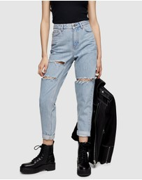 TOPSHOP - High-Rise Ripped Jeans