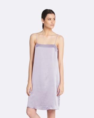 GINIA RTW – Grace Satin Slip Dress Lilac