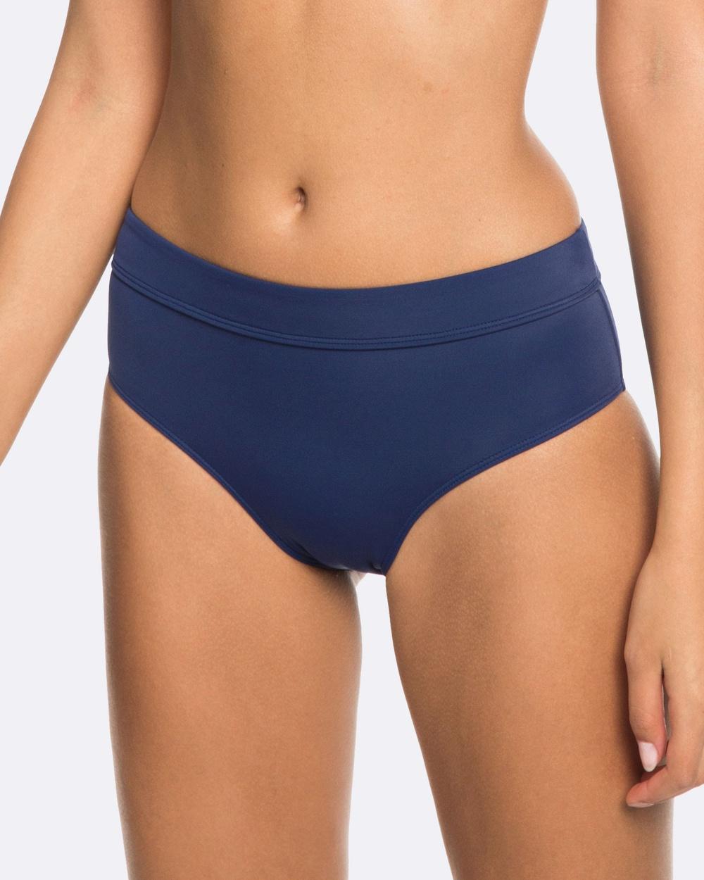 Roxy Womens Beach Basic Mid Waist Separate Bikini Pant Bikini Bottoms MEDIEVAL BLUE Womens Beach Basic Mid Waist Separate Bikini Pant