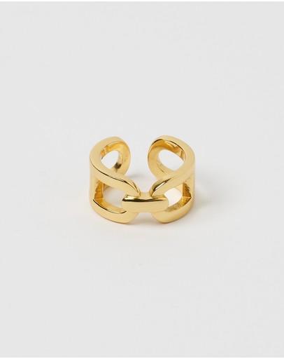Izoa Lydia Chain Ring Gold