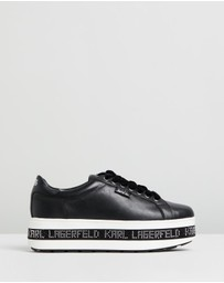 Karl Lagerfeld - Digi-Karl Leather Lace-Up Sneakers