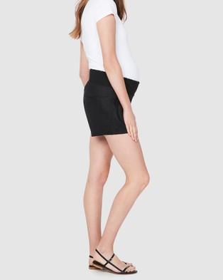 Soon Maternity Nala Linen Shorts - Shorts (BLACK)