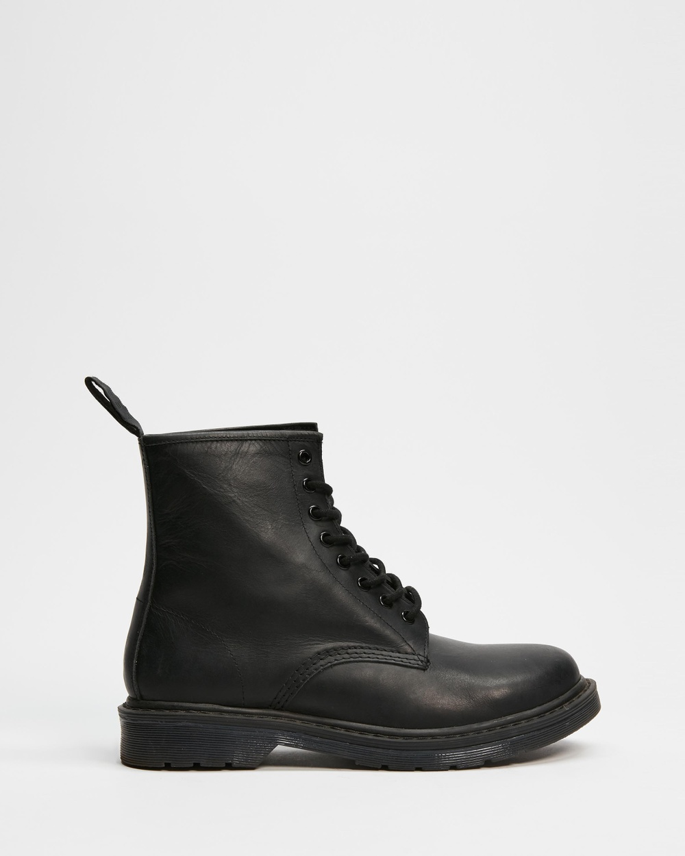 AERE Leather Lace Up Boots Black Lace-Up