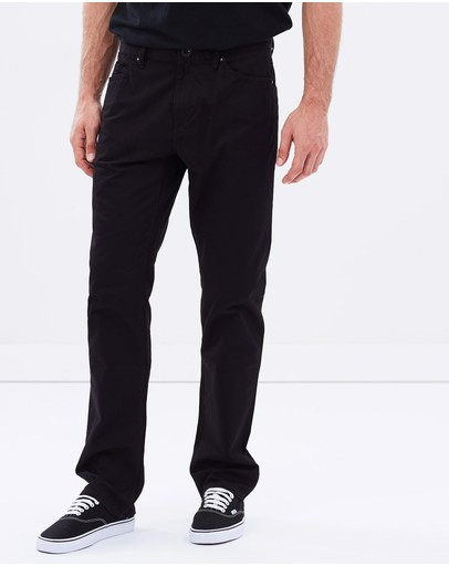 Volcom Solver 5 Pocket Modern Fit Twill Pants Black