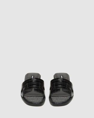 Nine West Gianna - Sandals (BLACK CROC)