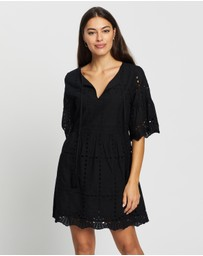 Atmos&Here - Broiderie Smock Mini Dress