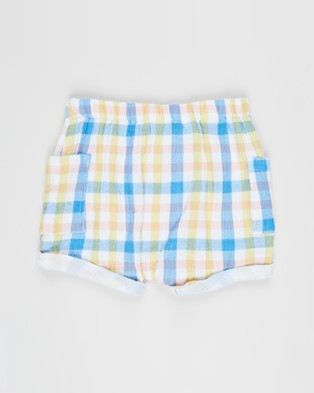 Cotton On Baby Jordan Shorts   Babies - Shorts (Blue Bird & Keanan Check)