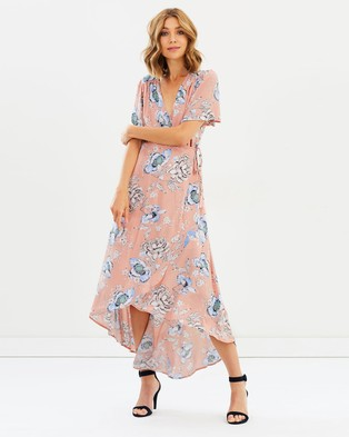 Sass – Garden Party Wrap Maxi Dress
