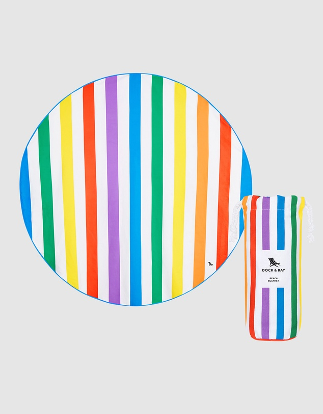 Dock & Bay - Round Beach Towel 100% Recycled