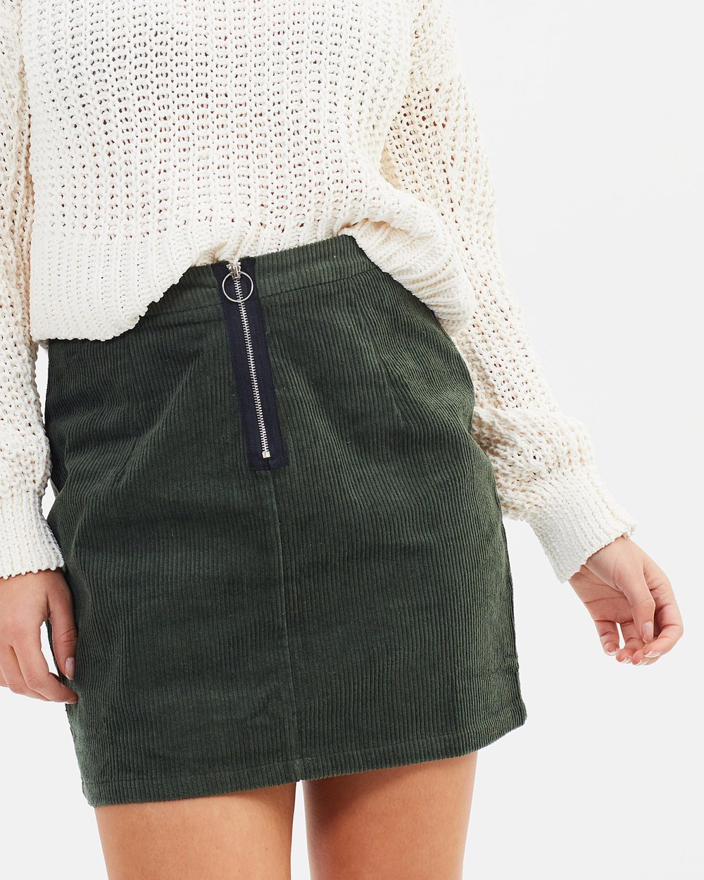 ca2a41e405 Zip Front Cord Mini Skirt by Missguided Online | THE ICONIC | Australia