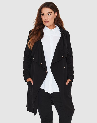 17 Sundays - Zero Hooded Drape Jacket