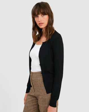 Forcast Rosaline Knitted Cardigan - Jumpers & Cardigans (Black)