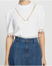 See By Chloé - Embellished T-Shirt