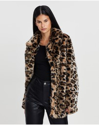 ENA PELLY - Animal Print Minimalist Jacket
