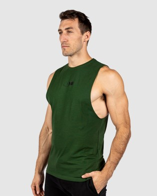 The Brave Eclipse Tank Muscle Tops Green