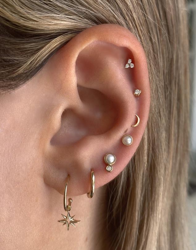 Women Solid Gold - My True North Earrings