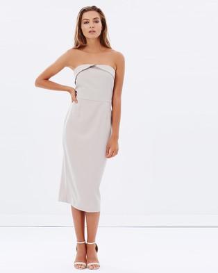 Mossman – The Unconscious Selection Dress – Bodycon Dresses (Taupe)