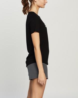 2XU Contender SS Tee - Short Sleeve T-Shirts (Black & Geo Lines)