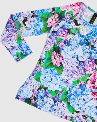 Aqua Blu Kids Blossom Long Sleeve Rash Vest   Kids - Swimwear (Blossom)