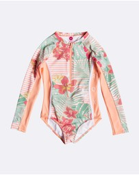 Roxy - Girls 2-7 Lush Florals Long Sleeved UPF 50 Onesie