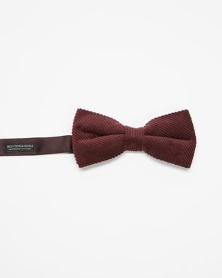 Scotch & Soda Corduroy Bow Tie Ties Cufflinks Fire Brick Bow-Tie