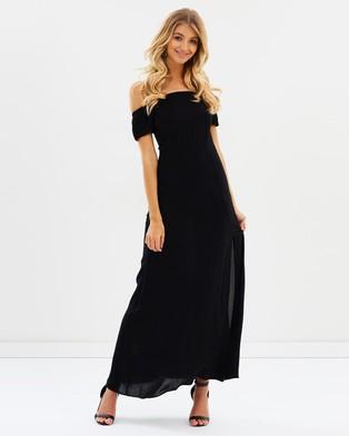 Atmos & Here – Azariah Off Shoulder Maxi Dress Black