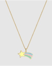 Elli Jewelry - Kids - Necklace Kids Star Pastel 925 Sterling Silver Gold Plated