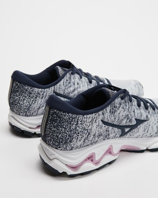 Mizuno Wave Inspire 16 Waveknit   Women's - Performance Shoes (Arctic Ice & Light Lilac)