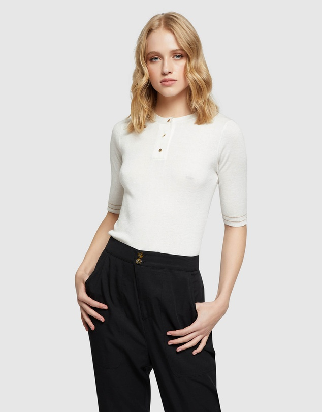 Oxford - Isabel Placket Front Knit