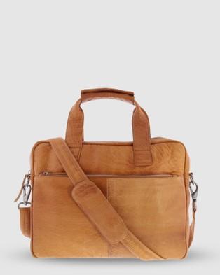 Cobb & Co Lawson Jr. Soft Leather Briefcase - Satchels (Tan)
