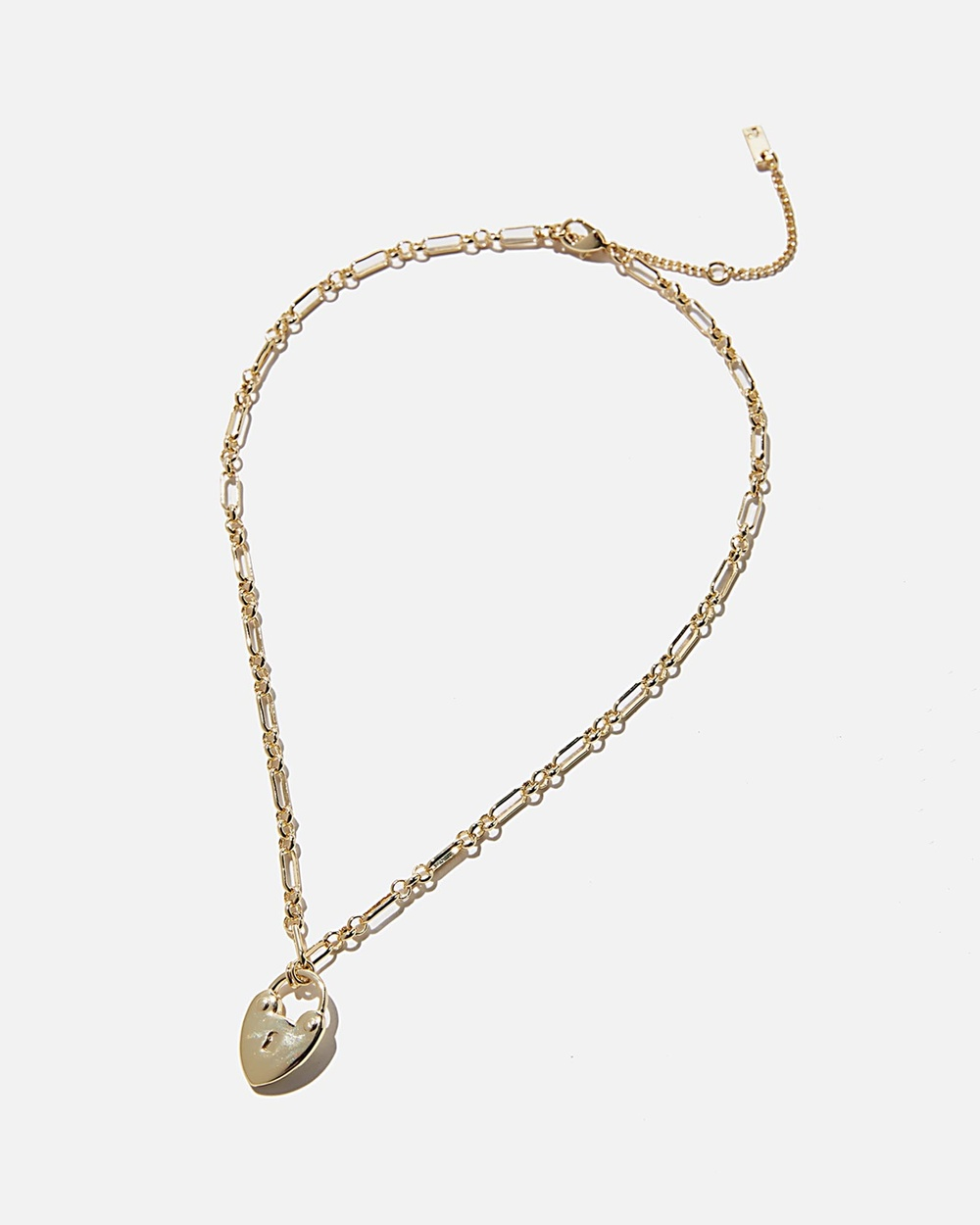 Rubi Premium Forever Necklace Jewellery Gold Plated Heart Padlock
