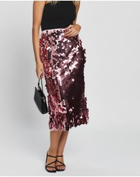 Never Fully Dressed - Sequin Midi Skirt