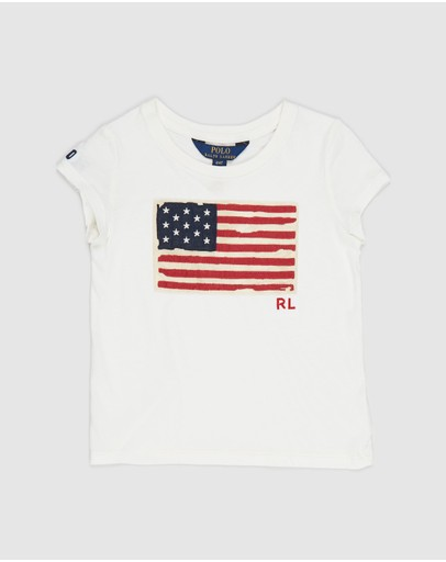 Polo Ralph Lauren - Short Sleeve Flag Tee - Kids