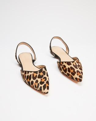 Atmos&Here - Leopard Slingback Flats (Leopard)