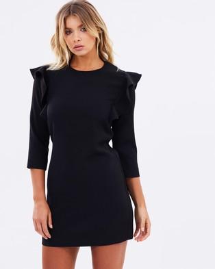 Atmos & Here – Ebony Frill Shift Dress – Dresses (Black)