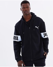 Puma - Rebel Full Zip Fleece Hoodie