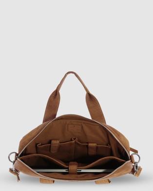 Cobb & Co Lawson Jr. Soft Leather Briefcase - Satchels (Cognac)