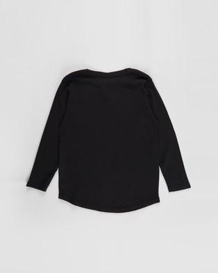 St Goliath - Long Sleeve Waffle Tee   Teens - T-Shirts & Singlets (Black) Long Sleeve Waffle Tee - Teens
