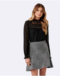 Forever New - Katie Fit  &  Flare Mini Skirt