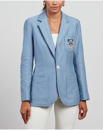 Polo Ralph Lauren - Single-Breasted Blazer with Crest