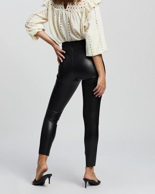 TOPSHOP Petite Leather Leggings - Pants (Black)