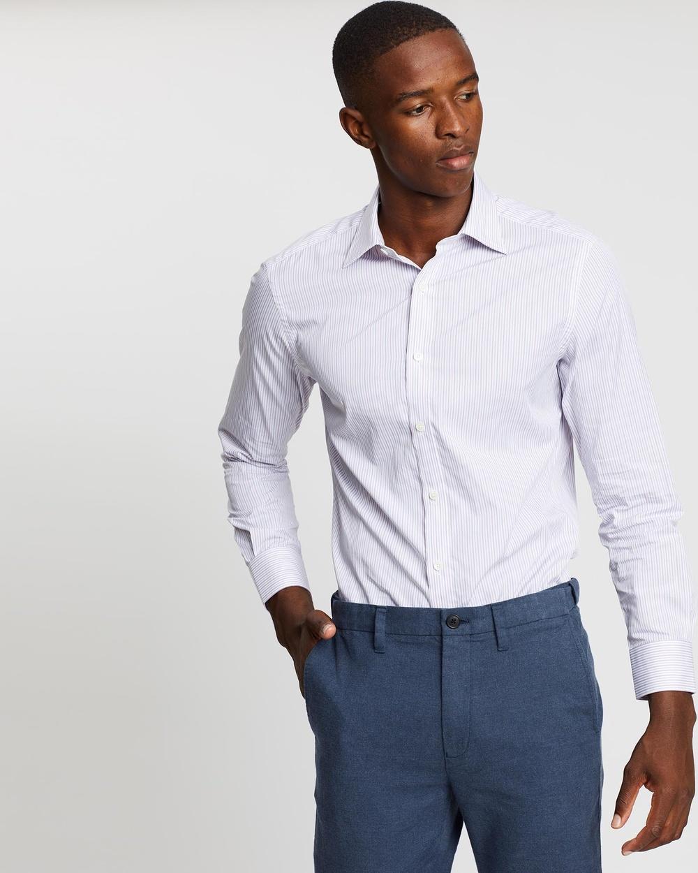 Kent and Curwen Long Sleeve Shirt Shirts & Polos Purple