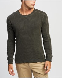 RRL by Ralph Lauren - Waffle Cotton Crew Neck Knit